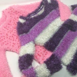 JUSTICE Fuzzy Sweater Bundle Girls Size 8